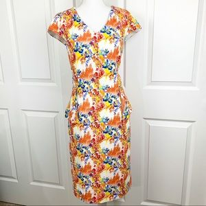 Antonio Melani Floral Midi Dress with Pockets